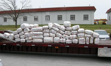 A file photo from a 2009 Missouri bust that netted just 1,350 pounds of pot. - MISSOURI HIGHWAY PATROL