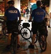 Bike cops like these were shot at near the CWE on November 9 - IMAGE VIA
