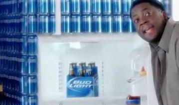 There's Bud Light in a fridge made of Bud Light!