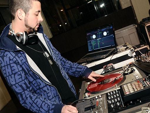 DJ Mahf spins on the second-third floor of the City Museum. See more photos from last night's RFT Best Of St. Louis party. - PHOTO: EGAN O'KEEFE