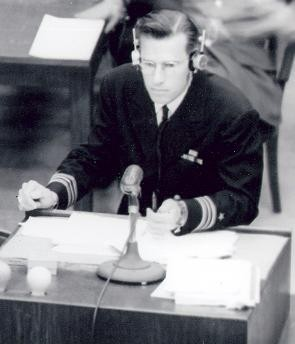 Harris at the Nuremberg Trials.