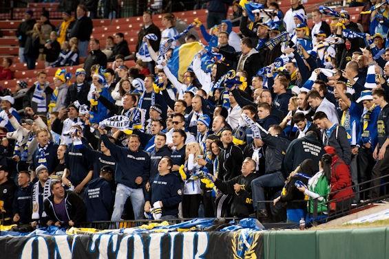 Bosnia-Herzegovina fans at Busch Stadium - JON GITCHOFF FOR RFT