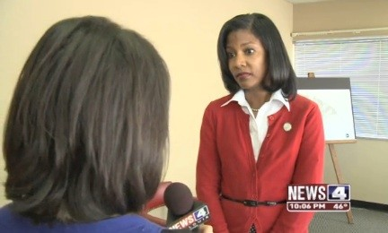 St. Louis Treasurer Tishaura Jones. - VIA KMOV.COM