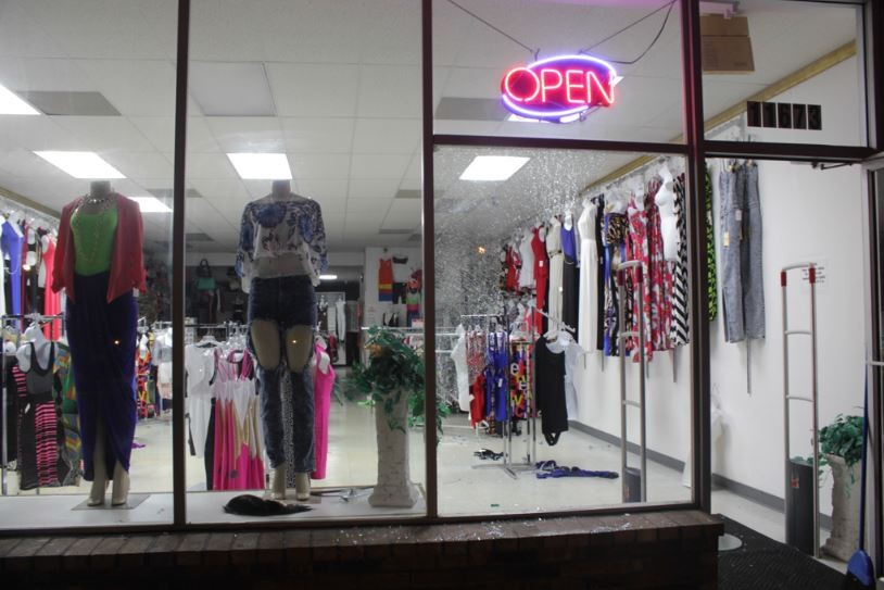 Up N Up Fashion was hit hard by looters who stole clothing and smashed mannequins. - DANNY WICENTOWSKI
