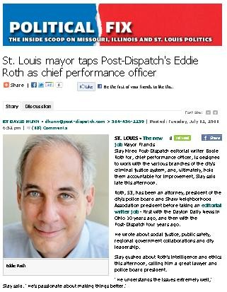 "Reported stltoday.com: ""Slay gushed about Roth's intelligence and ethics..."""