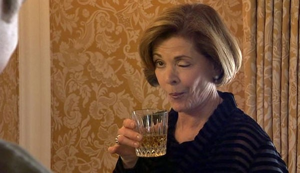 "Lucille Bluth: Beckoning johns or taking her ""medication""?"
