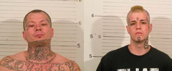 Paul O'Keefe (left) and Philip Ney were wanted for multiple car break-ins.
