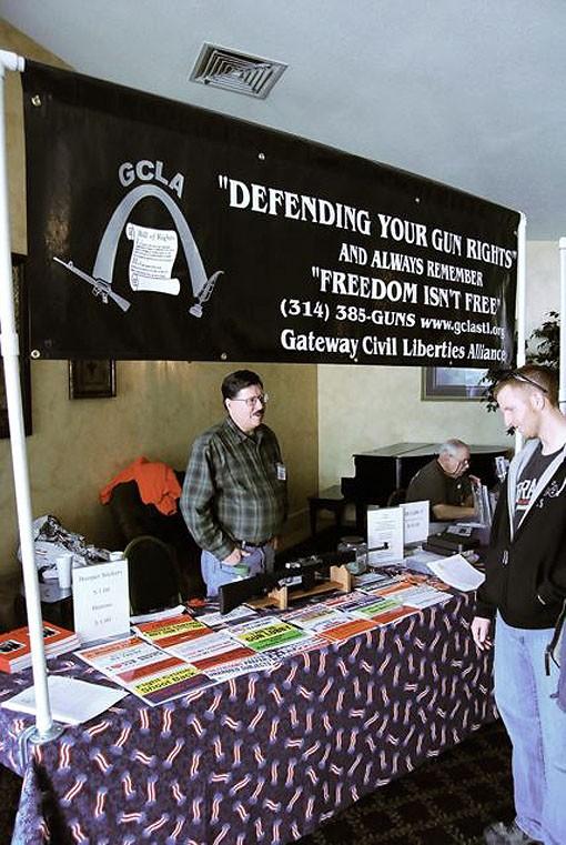 The Gateway Civil Liberties Alliance, a Second Amendment watchdog, was on hand with bumper stickers and a raffle. - PHOTO: MATT BLICKENSTAFF