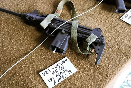 One mean-looking Vector Arms semi-auto Uzi on sale for a hefty sum. - PHOTO: MATT BLICKENSTAFF