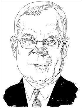 A Time artist's rendering of Michael Sherraden. - IMAGE SOURCE