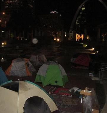 Kiener Plaza was a tent city before Partnership for Downtown St. Louis bent the mayor's ear.