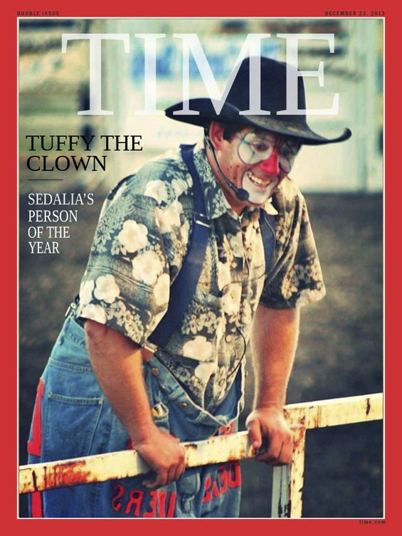 Rodeo Clown with Obama Mask at State Fair Could Win Sedalia 2013