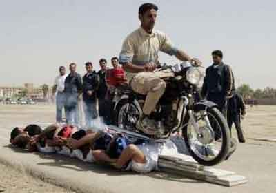 """The first image that appears when one googles the term """"iraq police""""."""