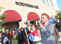 Crowds gather at a Nordstrom Rack opening in Houston. - SHOP.NORDSTROM.COM