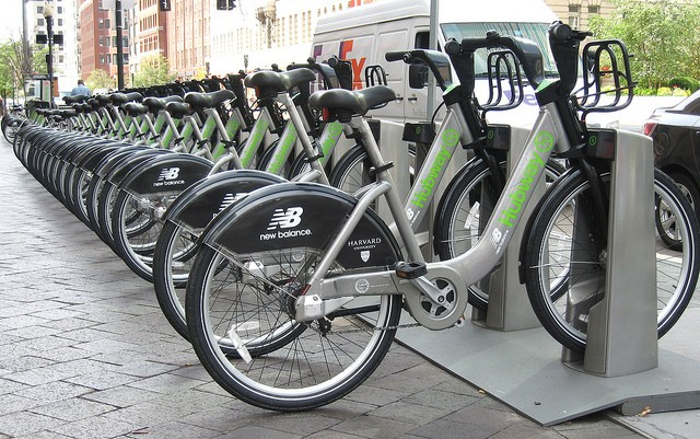 A bike sharing station in Boston. - JOE MAZZOLA ON FLICKR