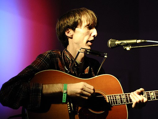 Bradford Cox of Deerhunter, performing songs from his solo project, the Atlas Sound.