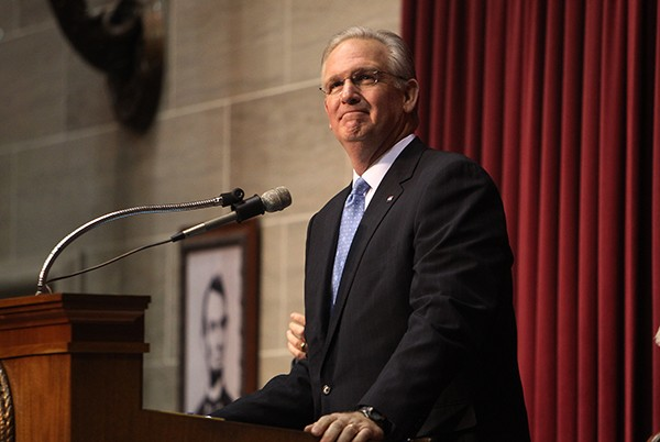 Gov. Jay Nixon delivers the State of the State address. - PHOTOS VIA