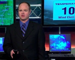 Chris Higgins, one unhappy weatherman. - VIA FACEBOOK