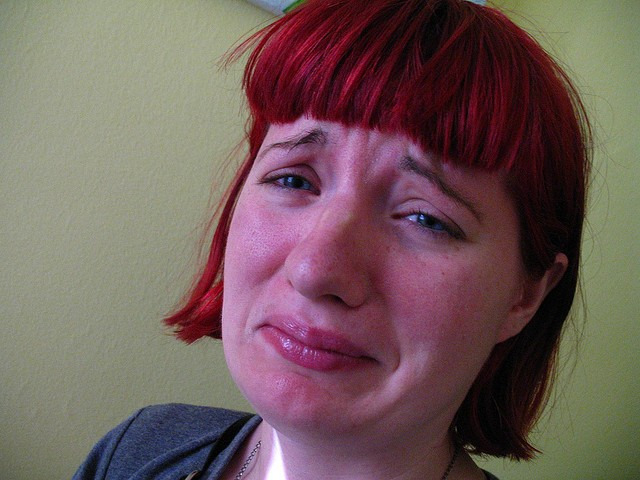 She's crying because her friends keep calling it Panera instead of St. Louis Bread Company. - ORIN ZEBEST VIA FLICKR