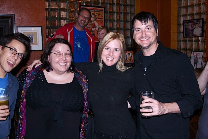 Tara Hunt (second from right) meets with St. Louis fans and admirers at the Royale on Thursday - PHOTO BY: BILL STREETER
