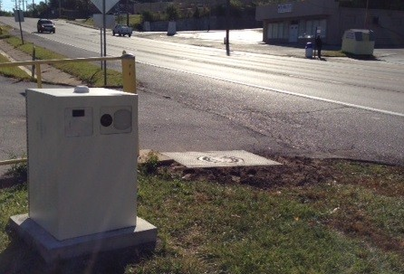 A speed camera along Page Avenue in Vinita Park. - CHAD GARRISON
