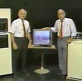 Company founders Bob and Harry Slyman in an early TV ad.