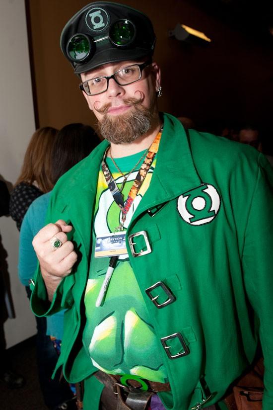 The Steampunk Green Lantern.