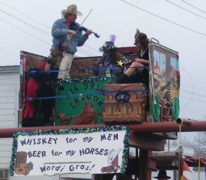 Redneck Mardi Gras in Worden, Illinois - VIA FACEBOOK