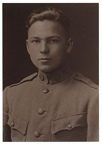 Buckles' 1917 Army photo taken when he was 16.