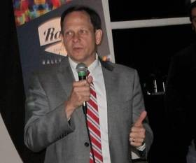 Mayor Slay spoke enthusiastically about Rally Saint Louis. - LEAH GREENBAUM
