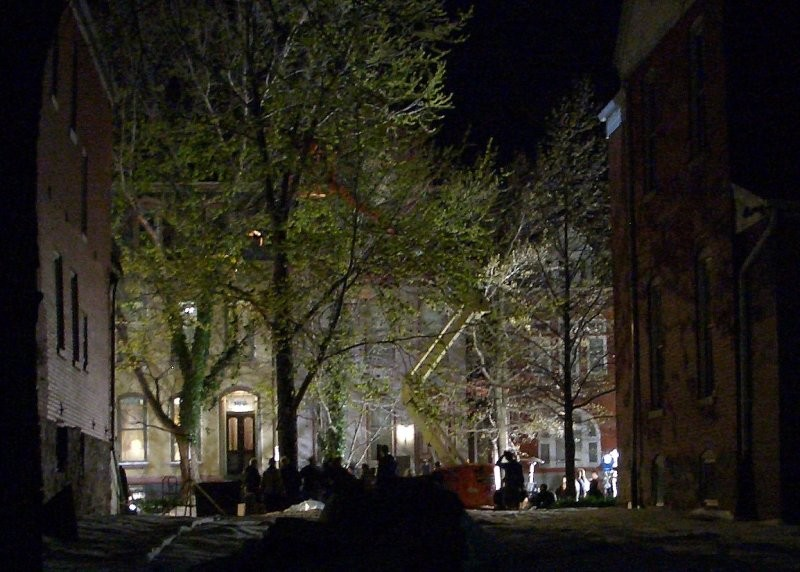 Clooney's midnight shoot in the Lafayette Square neighborhood - SANDY HERDE