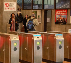 Tunrstiles work just fine at San Francisco's BART, but then, that's a heavy rail system