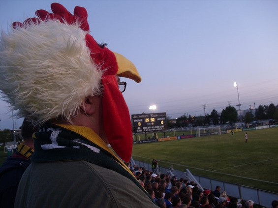 Chickenhead Bradley DeMunbrun at an AC St. Louis match.