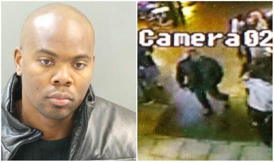 Anderson's mugshot after he was arrested, and the surveillance footage that cleared him. - ST. LOUIS METROPOLITAN POLICE DEPARTMENT/JESSICA LUSSENHOP