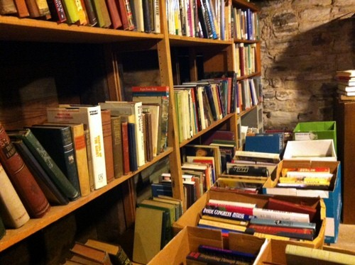 Books on sale for $1 in the Archive's basement. - PHOTOS BY LINDSAY TOLER