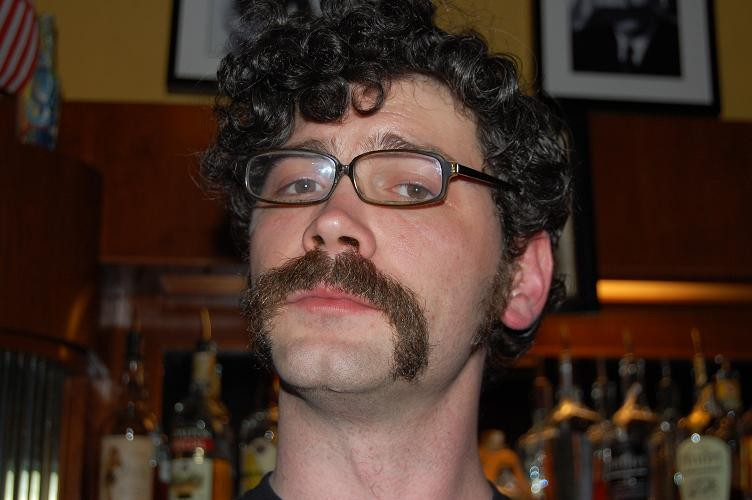 Bartender David Mueth and his prize-winning moustache - PHOTO BY NICHOLAS PHILLIPS