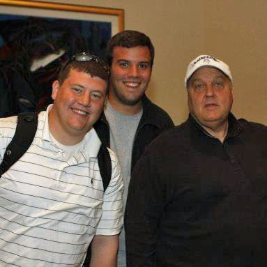 Jonathan Gold (left) and Rick Majerus in 2007, the year the coach took over SLU's basketball program.