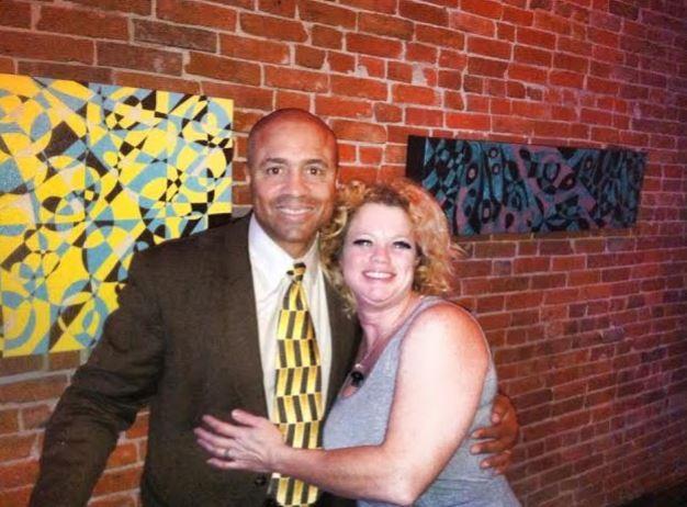 Jacqueline with Major Neill Franklin, executive director of LEAP (Law Enforcement Against Prohibition) - JACQUELINE PATTERSON