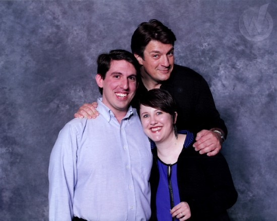 Actor Nathan Fillion made a love connection for James Dauer and Jenna Nurnberger. - WIZARD WORLD