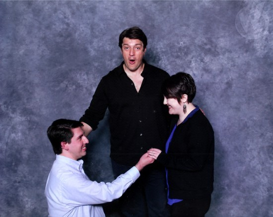 A nerdy proposal in action. - WIZARD WORLD