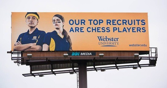 Webster University's new billboard up between Columbia and St. Louis on I-70 - WEBSTER UNIVERSITY