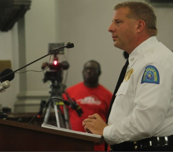 St. Louis Police Chief Sam Dotson was grilled by members of the aldermanic board over his department's use of deadly force. - DANNY WICENTOWSKI