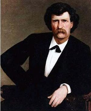 Mark Twain in 1877, a few years before he invented the game that would, if there were any justice, be a favorite in bars the world over. Happy deathday, sir! - WIKIMEDIA COMMONS