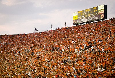 Auburn fans in a sea of orange. - DAVE NEWMAN ON FLICKR