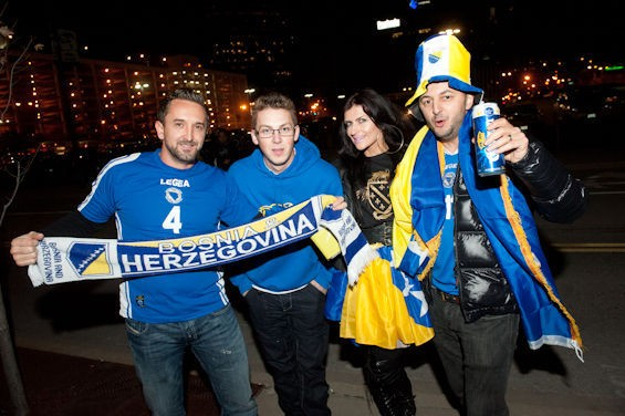 Bosnia fans turned out by the thousands the last time the national team came to town. - JON GITCHOFF