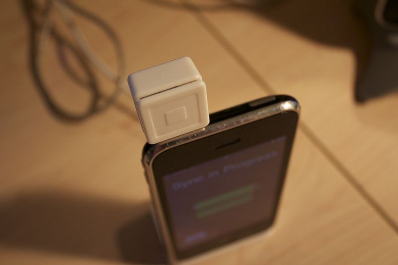 Square reader. - CHRIS HARRISON PHOTO VIA