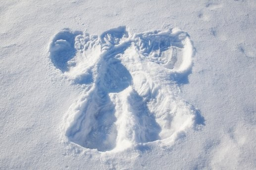 Is it a snow angel or a saint?