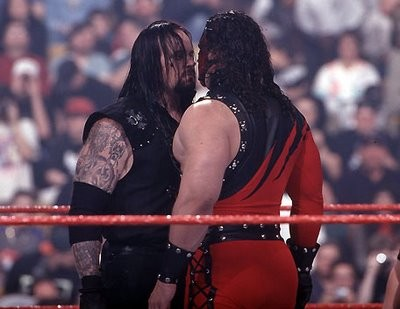 It's brother against brother, just like those guys in the Bible. Whats-their-names... Kane vs. Undertaker.
