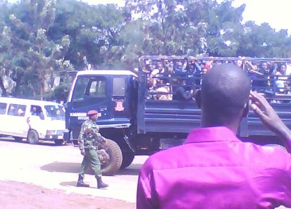 Kenyan government officials round up Congolese refugees and take them to prison camps. - PHOTOS COURTESY OF IMUHIRA INTERNATIONAL