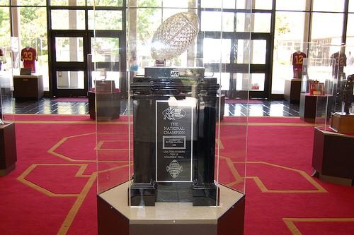 USC's 2004 BSC trophy. - IMAGE VIA